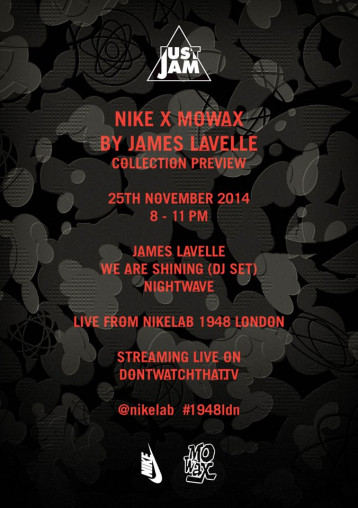 Nike x Mo' Wax collection preview tonight in London