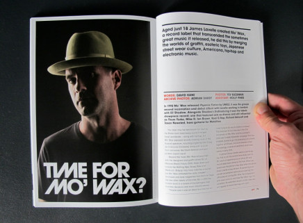 The latest Bonafide Mag has a nice James Lavelle / Mo' Wax feature