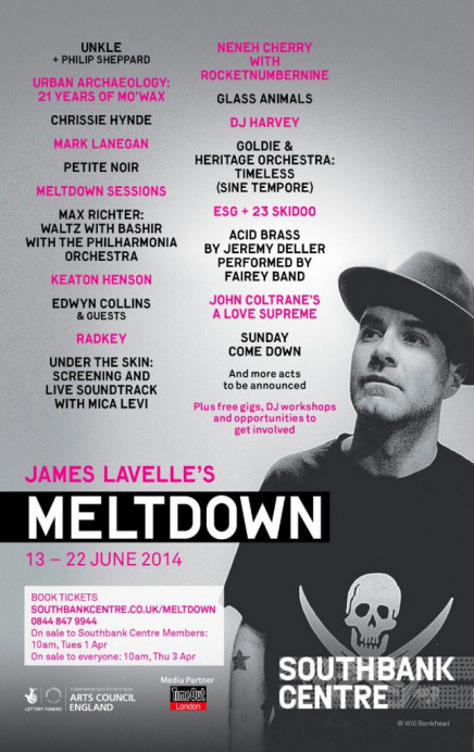 Meltdown 2014 lineup unveiled