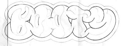 Booty Wax logo sketch