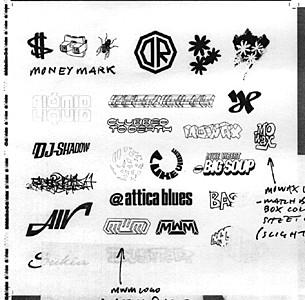 Various Mo' Wax logos
