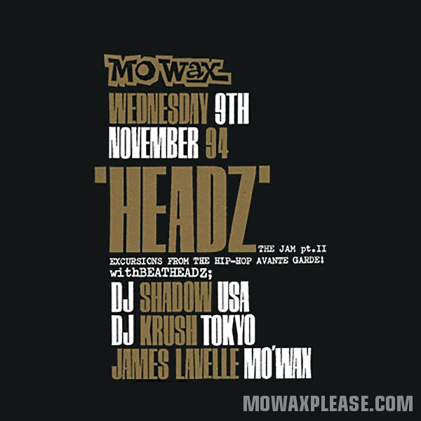 DJ Shadow & DJ Krush - Live @ Mo' Wax Headz Tour, 1994