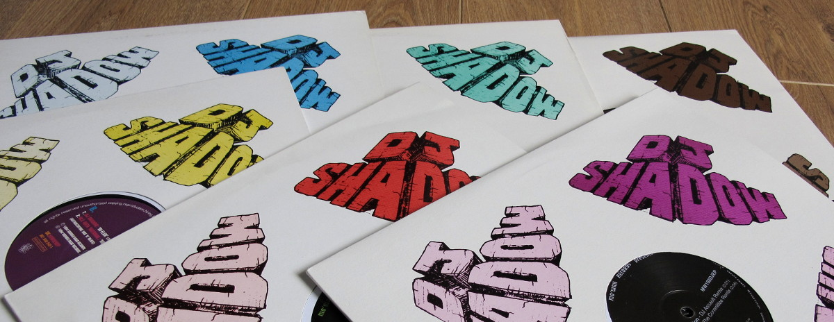 Mo' Wax bootlegs - DJ Shadow block logo in many colors