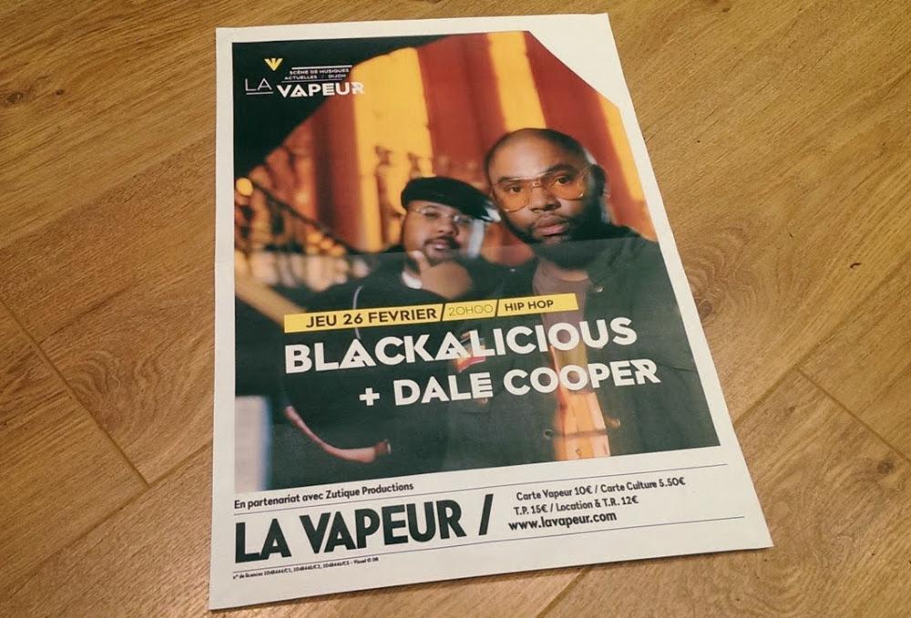 Blackalicious + Dale Cooper @ la Vapeur, Dijon