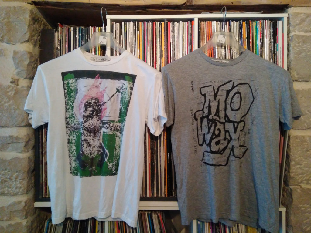 Mo' Wax compressed tees from Daydreaming with UNKLE at Lazarides - front